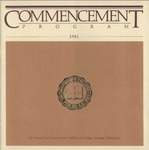 Commencement Program 1981 by Whitworth University