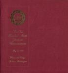 Graduate Commencement Program 1999