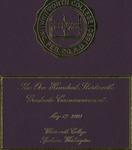 Graduate Commencement Program 2003