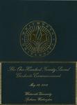 Graduate Commencement Program 2012 by Whitworth University