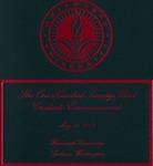 Graduate Commencement Program 2013 by Whitworth University
