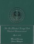 Graduate Commencement Program 2016 by Whitworth University