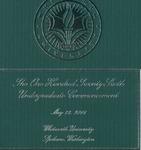 Commencement Program 2016