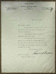 Letter to Sonora Dodd from Samuel Fallows, January 26, 1911