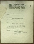 Letter to Sonora Dodd from The A. M. Davis Company, May 23, 1911