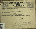 Telegram to Sonora Dodd from C. C. Dill, June 17, 1916