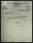 Letter to Mrs. Wm. Hedstrom from Mrs. C. E. Addis, October 24, 1914