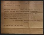 Telegram to Sonora Dodd from President Franklin D. Roosevelt, June 13, 1934