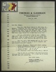 Letter to Mrs. Newman from Thomas & Gassman, June 14, 1939
