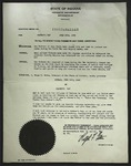 Official Proclamation by Ralph F. Gates, May 18, 1946