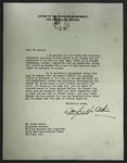 Letter to Alvin Austin from Douglas MacArthur, c. 1946