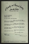 Letter to John Matthiesen from Harry Riemer, February 18, 1949