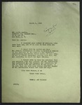 Letter to Alvin Austin from Thomas and Gassman, March 1949, with attached letter