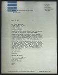 Letter to John L. Matthiesen from Alvin Austin, April 26, 1950