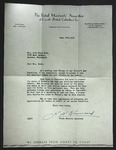 Letter to Sonora Dodd from the Retail Merchants' Association of Canada Inc., June 30, 1952