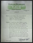 Official Proclamation by Willard Taft, June 1, 1956, with attached documents