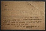 Copy of Telegram to Ernest N Hutchinson from Sonora Dodd, May 28, c. 1935