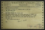 Telegram to Sonora Dodd from Ray E. Bigelow, June 19, 1964 by Ray E. Bigelow
