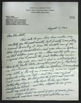 Letter to Sonora Dodd from Henry E. Bluhm, August 17, 1962