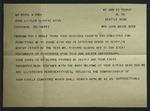 Telegram to Cecil M. Rhea from Sonora Dodd, June 13, 1960