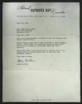 Letter to Sonroa Dodd from Alvin Austin, June 20, 1961