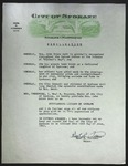 Official Proclamation by Neal R. Fosseen, June 14, 1963