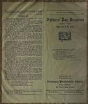 Father's Day Program, Centenary Presbyterian Church, June 16, 1912