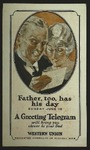 Father's Day Telegram Promotional Card, c. 1937
