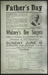 Whitney's Boy Singers Poster, Father's Day 1916