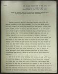 Draft of Newspaper Article, June 1927