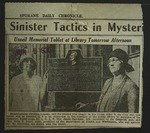 Newspaper Clipping from Spokane Daily Chronicle, June 9, 1930