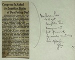 Newspaper Clippings, c. 1951