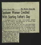Newspaper Clipping from the Seattle Times, June 6, 1961