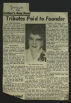 Newspaper Clipping from Spokane Daily Chronicle, June 13, 1962