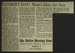 Newspaper Clipping from the Dallas Morning News, June 13, 1963