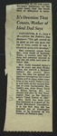 Newspaper Clipping from the Washington Post, June 10, 1952