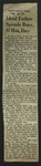 Newspaper Clipping from the Washington Post, May 16, 1952