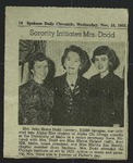 Newspaper Clipping from Spokane Daily Chronicle, November 16, 1955