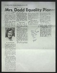 Photocopy of Newspaper Clipping, originally published June 11, 1975