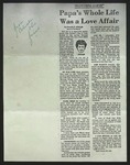 Photocopy of Newspaper Clipping, originally published c. 1976