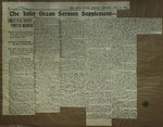 Newspaper Clipping from The Inter Ocean, July 8, 1912