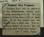 Newspaper Clipping from the Wilbur Register, June 19, 1914
