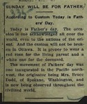 Newspaper Clipping from the Ottawa Free Trader, June 21, 1914