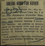 Newspaper Clipping from the Pittsburgh Gazette-Times, May 17, 1915