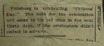 Newspaper Clipping from the Cincinnati Commercial-Tribune, July 4, 1915