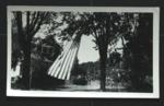 American Flag outside Dodd House in Spokane, Washington