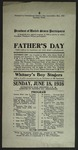 Facsimile of 1916 Father's Day Program