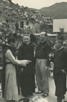 Fathers Cao Lishan and Albert Palmers at the Refugee Camp