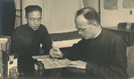 Father Georges Massin with His Language Teacher
