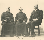 Fr. Vincent Lebbe with Fr. Bolly and Mr. Paul Staes
